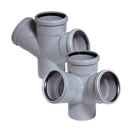 Крестовина для внутренней канализации 45 град 110-110-110