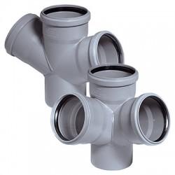 Крестовина для внутренней канализации 45 град 110-50-50