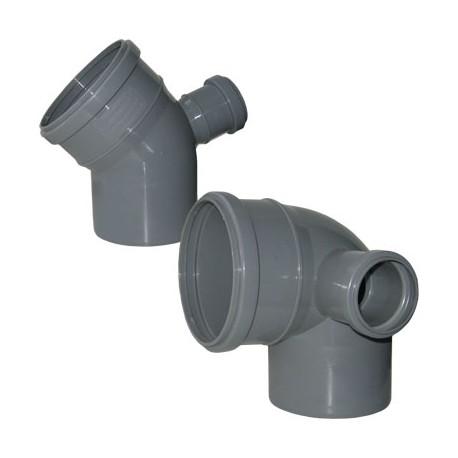 Отвод для внутренней канализации 110/50/90 левый
