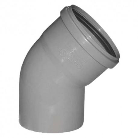 Отвод для внутренней канализации 45 град- 50