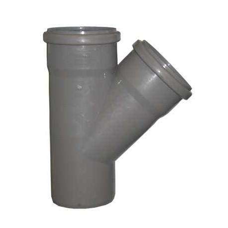 Тройник для внутренней канализации 45 град 110-50
