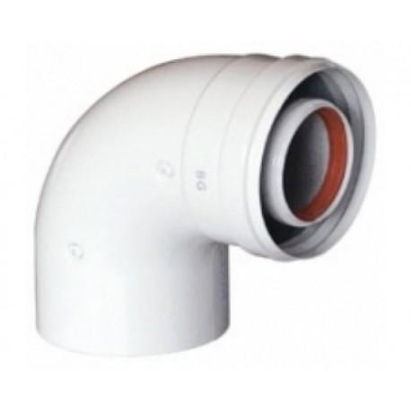 Отвод коаксиальный 60/100-90 KHG 71401410