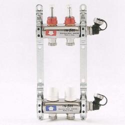 """Коллекторная группа 1""""х3/4"""" 2 вых. с расходомерами и термостатическими вентилями"""