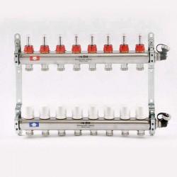 """Коллекторная группа 1""""х3/4"""" 8 вых., с расходомерами и термостатическими вентилями"""