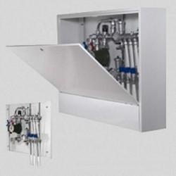 Шкаф коллекторный металлический накладной глубокий 6Г 1150х650х180