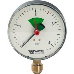 Watts F+R201(MHR) 100/4x1/2&quot Манометр радиальный 100мм, 0-4 бар