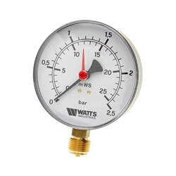 Watts F+R200(MDR) 63/25x1/4&quot Манометр радиальный 63мм, 0-25 бар