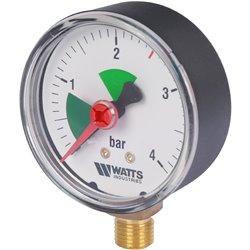 Watts F+R201(MHR) 63/4x1/4&quot Манометр радиальный 63мм, 0-4 бар