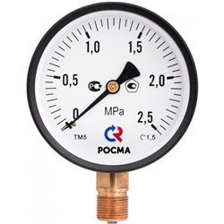 РОСМА ТМ-510P.00(0-1,0MРа)G1/2.1,5.M2 Манометр диам. 100 мм тип ТМ серия 10 модель 2 кт 1,5 IP40 G 1/2 0-1,0МРа.