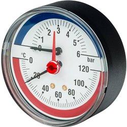 Watts FR 818(TMAX) 6x1/2&quot Термоманометр аксиальный, 0-6 бар