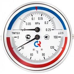 РОСМА ТМТБ-31Т.1(0-120С)(0-0,6MPa)G1/2.2,5 ТЕРМОМАНОМЕТР 80 мм, ТИП - ТМТБ-31Т, температура: 0-120С, давление: 0-0,6MPa, G1/2 (