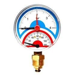 Watts FR 828(TMRA) 4 Термоманометр радиальный 1/2&quot х 4 бар (80мм)