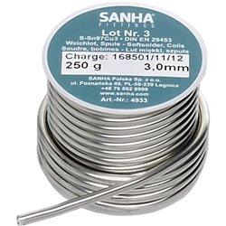 Sanha 4933 4933 припой S-Sn97Cu3 Нр.3, 2,0 мм, катушка, 250 г 2,0mm, для медных труб под пайку