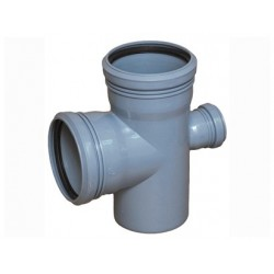 Крестовина для внутренней канализации 90° 110-110-50