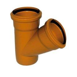Sinikon НПВХ Тройник D110 x 110 x 45° для нар. канализации