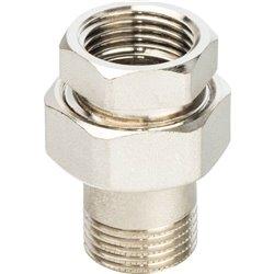 STOUT Разъемное соединение &quotамериканка&quot ВН никелированное, уплотнение под гайкой o-ring кольцо 1/2