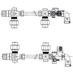 ACV Комплект быстрого монтажа для Comfort,Smart STD, Smart EW, Трубка изогнутая