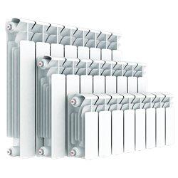 RIFAR BASE VENTIL 500 14 секций BVRL вход справа, выход слева радиатор биметаллический нижнее подключение (белый RAL 9016)