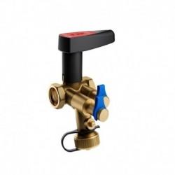 Meibes Балансировочный клапан с предварительной настройкой,измерительными нипелями, запорный с дренажём, PN25 DN15 Kvs 1,71