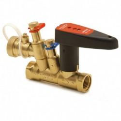 Meibes Балансировочный клапан с предварительной настройкой,измерительными нипелями, запорный без дренажа, FODRV, PN25 DN15